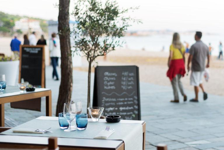 Dinar en un restaurant de Castell d'Aro, Platja d'Aro o S'Agaró